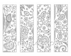 Downloadable Bookmarks to Color Paisley Printable by JoArtyJo More