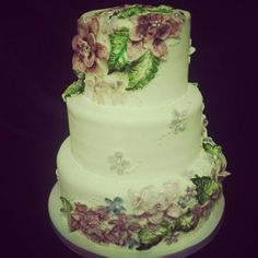painted flower cakes - Google Search