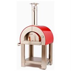 Alfa Pizza Ovens Red Dome Forno 5 Wood Fired Pizza Oven Made In Italy