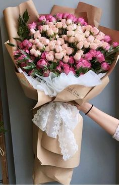 bouquet for girlfriend DIY Beautiful Floral Arrangements for Spring - Page 47 of 47 - SooPush Boquette Flowers, Beautiful Bouquet Of Flowers, Luxury Flowers, Bunch Of Flowers, Spring Flowers, Gift Flowers, Wedding Flowers, Bouquet Wedding, Purple Wedding