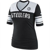 Congrats @So Bettah! You are today's Pin for Presents winner! Please email us at SocialMedia@Fanatics.com so we can send you your prize code and you can get this Nike Pittsburgh Steelers Ladies V-Neck T-Shirt for FREE! #Fanatics