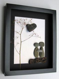 Cuadro con piedras