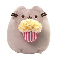 GUND is proud to present Pusheen - a chubby gray tabby cat that loves cuddles, snacks, and dress-up. As a popular web comic, Pusheen Pusheen Stuffed Animal, Cute Stuffed Animals, Kawaii Plush, Cute Plush, Kino Snacks, Kino Box, Grey Tabby Cats, Cute Pillows, Fluffy Animals