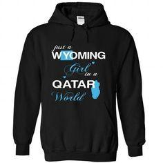 WorldBlue Wyoming-Qatar Girl - #student gift #husband gift. WANT IT => https://www.sunfrog.com//WorldBlue-Wyoming-Qatar-Girl-2694-Black-Hoodie.html?68278
