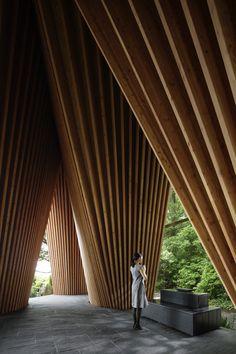 "subtilitas: "" Hiroshi Nakamura & NAP Co - Forest Chapel, Sayama 2013. Via, photos © Koji Fujii. """