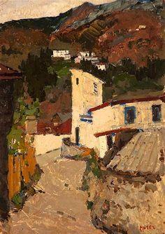 Marie-Mela Muter 1876-1967 (Polish, French) Village scene