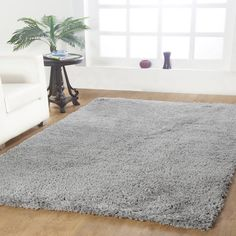 """Affinity Linens Affinity Hand-woven Silver Area Rug Size: 96"""" W x 120"""" L"""