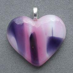 Heart Shaped Art Glass Pendant