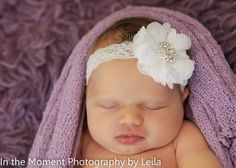White Baby Headband Baby Headband  Infant by SummerChicBoutique