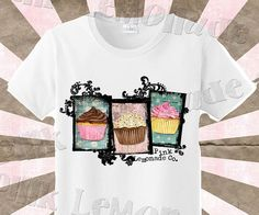 Grungy Cupcake DTG Tee, $18