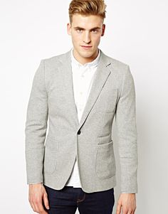 $87, Grey Blazer: Selected Blazer Wall. Sold by Asos. Click for more info: https://lookastic.com/men/shop_items/69797/redirect