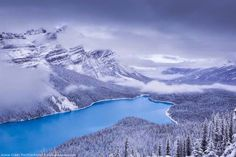 Peyton Lake, Banff National Park, Canada - 19 Breathtaking Photos Of Winter Wonderlands Around The World Parc National, Banff National Park, National Parks, Places Around The World, Around The Worlds, Iceland Photos, Nature Sauvage, France Photos, Magic City