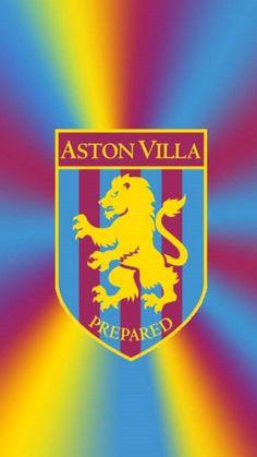 Aston Villa Wallpaper, Aston Villa Fc, Villa Park, Football Wallpaper, English Premier League, Football Shirts, Badges, Graphic Art, Wallpapers