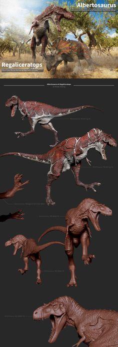 Albertosaurus&Regaliceratops.making on Behance