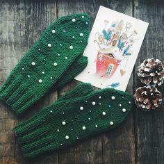 Crochet Mittens, Crochet Gloves, Knitting Socks, Baby Knitting, Knit Crochet, Sweater Mittens, Crochet Winter, Knitted Headband, Knitting Accessories
