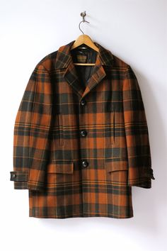 vintage Pendleton plaid wool coat