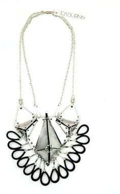 Iris Statement Necklace in Silver EABurns