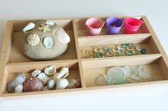 An activity involving play dough and loose parts such as shells, rocks and pebbles makes a clever environment children. They have the  ability to create anything that comes to mind and awesome for finding new explorations!