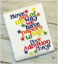 Adoption Day Girls or Boys Shirt by DipsyDoodlebug on Etsy