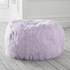 Purple Bedrooms, Teen Girl Bedrooms, Purple Bedroom Decor, Teen Bedroom, Purple Bean Bags, Lavender Room, Lilac Room, Faux Fur Bean Bag, Pottery Barn Teen