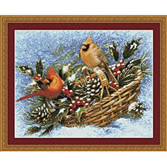 Cardinals Cross Stitch Pattern