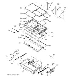 GE refrig parts - Assembly View for FRESH FOOD SHELVES | DFE28JMHCES