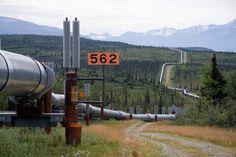 1977 - Trans-Alaska pipeline system finished.