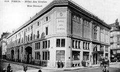 Le 9 août 1850, la Compagnie des Commissaires-Priseurs achète à la Ville de Paris le terrain provenant de l'ancien Hôtel Pinon de Quincy. Après 18 mois de travaux, Drouot ouvre ses portes le 1er juin 1852.  #Drouot #Paris #France #Histoire #Encheres