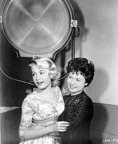 Sandra Dee and her mother