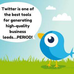 Twitter is one of the best lead generators...PERIOD! #SMTip #TwitterTip #SocialMediaTip #WeblinkIndiaTip
