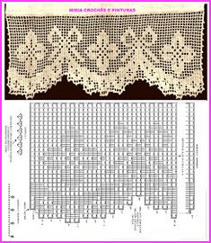 Crochet Cord, Thread Crochet, Love Crochet, Filet Crochet, Crochet Stitches, Bird Curtains, Crochet Curtains, Crochet Doilies, Crochet Lace