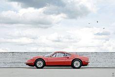 red '74 Ferrari Dino 246GT