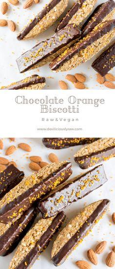 #raw #vegan Chocolate Orange Biscotti from Deviliciously Raw