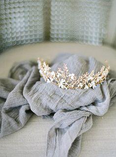 Bohemian Crown Bridal Headpiece, Bridal Headband, Warm Gold Wedding Head Piece, Boho headpiece, Princess Bridal Crown, Boho Tiara, SALE