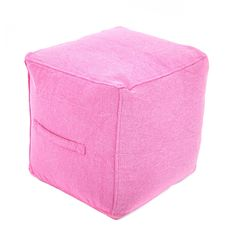 Found Object Ottoman Upholstery: Pink Garage Bedroom, Square Pouf, Little Girl Rooms, Tech Accessories, Living Room Furniture, Toddler Girl, Ottoman, Upholstery, Canvas