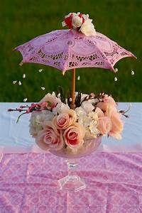 Oh So Cute DIY Parasol Garden Party Baby Shower Centerpiece