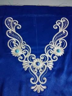 Getting to Know Brazilian Embroidery - Embroidery Patterns Embroidery Alphabet, Hardanger Embroidery, Shirt Embroidery, Embroidery Fashion, Ribbon Embroidery, Embroidery Stitches, Border Embroidery Designs, Kurti Embroidery Design, Machine Embroidery Projects