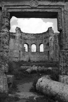 Byzantine church ruins....