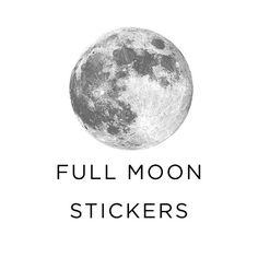 Silver full moon stickers used in our 2016 Calendar is also available on their own.  1.5 diameter. This listing is for a pack of 10.  Ships flat, first class. View this listing for a pack of 20. https://www.etsy.com/listing/264341956/full-moon-stickers-silver-moon-pack-of