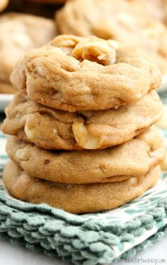 Macadamia Nut White Chocolate Chip Cookies.