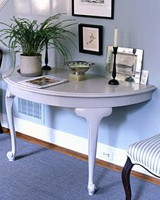 Don't give up on chairs with torn seats or tables with missing legs -- we have plenty of ideas for giving new life to worn furniture in unexpected ways.
