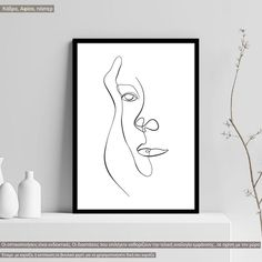 Eyes and figure III, αφίσα, κάδρο Line Art, Poster, Home Decor, Decoration Home, Room Decor, Line Drawings, Home Interior Design, Billboard, Home Decoration