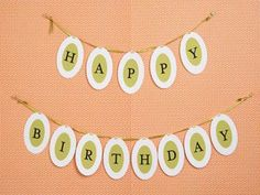 Happy Birthday Banner from Paper Source
