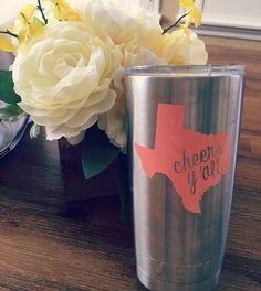 Custom Texas Decal by PrintcessPownall on Etsy