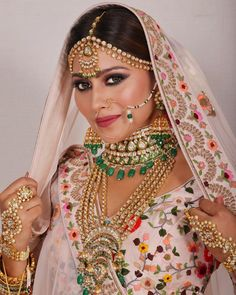 Photo By Neha Adhvik Mahajan - Makeup Artist Indian Bridal Makeup, Indian Wedding Jewelry, Bridal Jewelry, Indian Costumes, Full Look, Muslim Fashion, Playing Dress Up, Indian Beauty, Fashion Photography