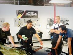 Here's a shot from Day 2 of this week's hands on Auto Detailing Training Class! In today's class, students learned exterior auto detailing techniques and practiced them on real vehicles. #autodetailing #cardetailing #exteriordetailing