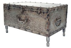 Urban Metal Floor Trunk on OneKingsLane.com With the charm of a flea-market find, this metal floor trunk is great for storage and as a coffee table.