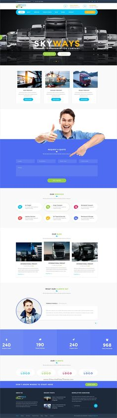 Transport is a #PSD template created for #webmaster logistics, #trucking, #transportation companies and small freight business websites download now➩ https://themeforest.net/item/transport-logistics-transportation-business-psd-template/18996996?ref=Datasata