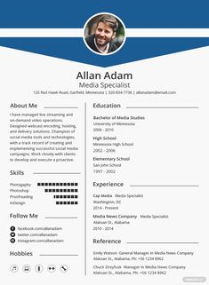 Free Media Resume Template #AD, , #AD, #Media, #Free, #Template, #Resume Indesign Resume Template, Modern Resume Template, Cv Template, Adobe Indesign, Adobe Photoshop, Templates Free, Microsoft Word Resume Template, Blogger Templates, Basic Resume