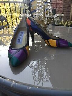 Vintage Sergio Rossi Leather Color Block Pumps  | eBay Stiletto Pumps, Pointed Toe Pumps, Women's Pumps, Pump Shoes, Leather High Heel Boots, Black Heel Boots, Black Leather Boots, Block Heel Loafers, Heeled Loafers